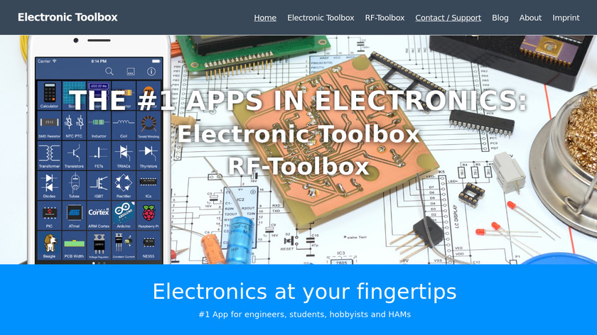 Electronics Toolbox Pro Landing Page