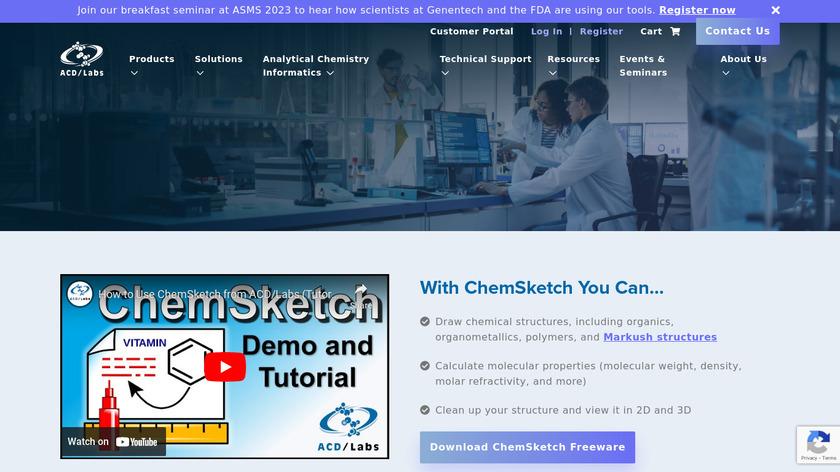 ACD/ChemSketch Landing Page