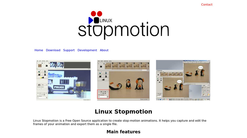 Linux Stopmotion Landing Page