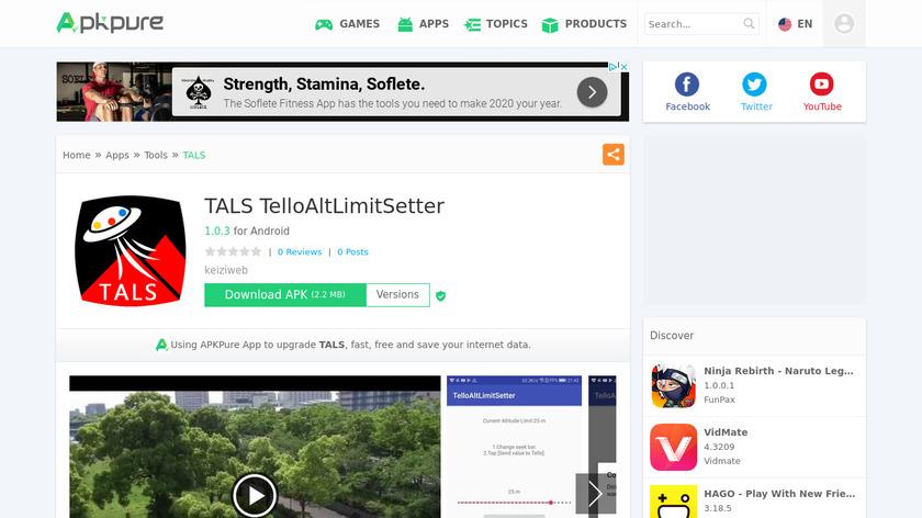 TALS TelloAltLimitSetter Landing Page