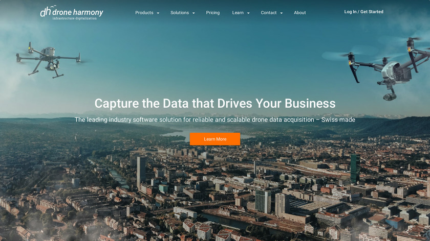 Drone Harmony Planner Landing Page