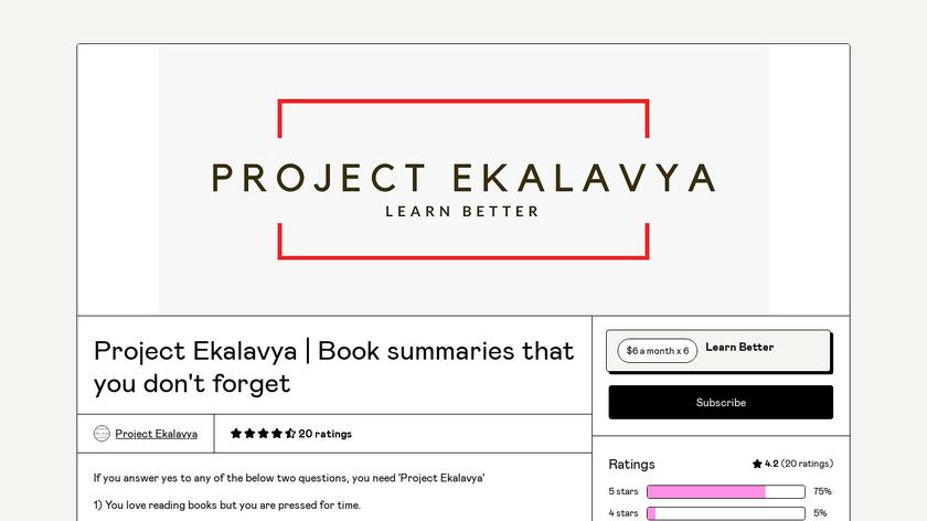 Project Ekalavya Landing Page