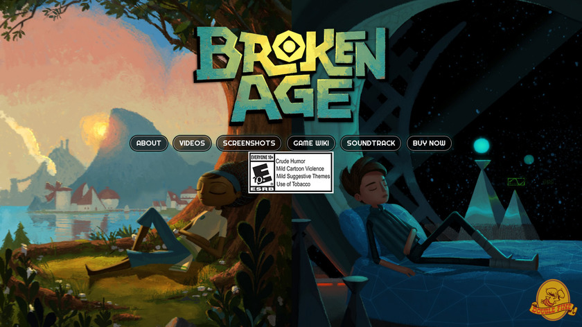Broken Age Landing Page
