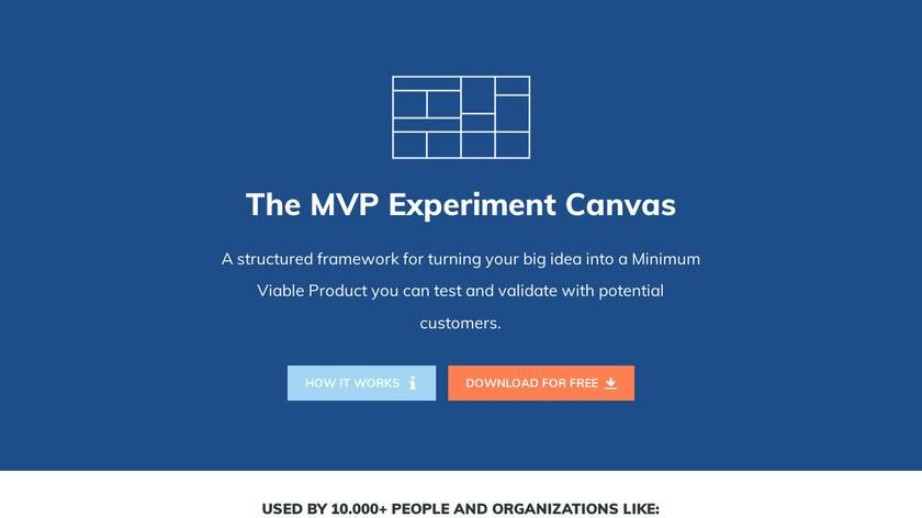 MVP Experiment Canvas Landing Page