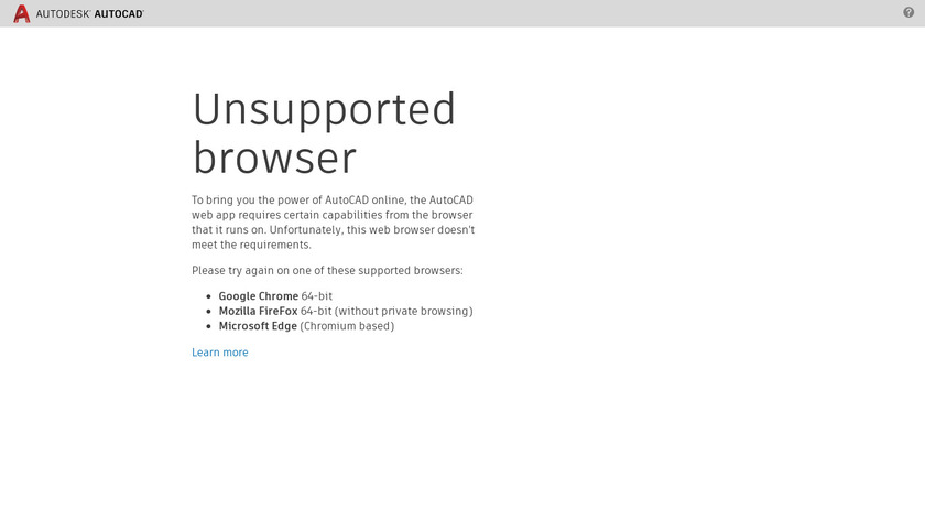 AutoCAD 360 Landing Page