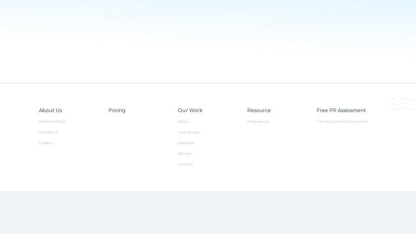 Publicize Zero Landing Page
