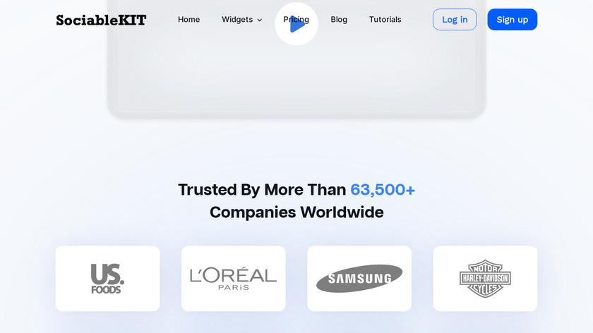 SociableKIT Landing Page
