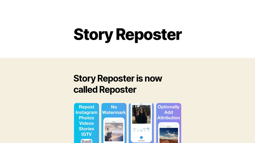 Story Reposter Landing Page