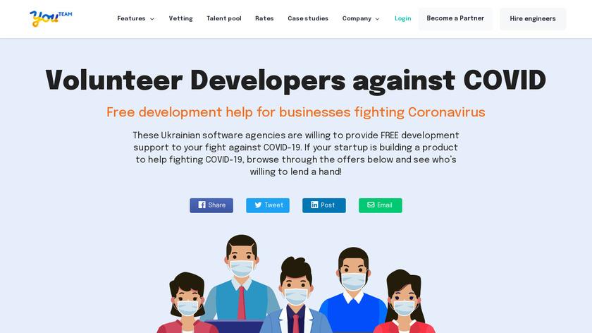 Volunteer Developers Landing Page