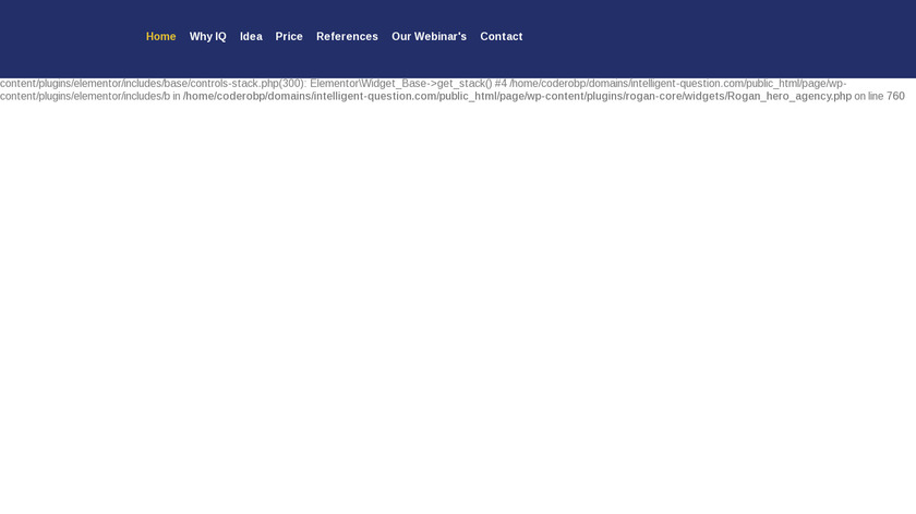 1 Question Landing Page
