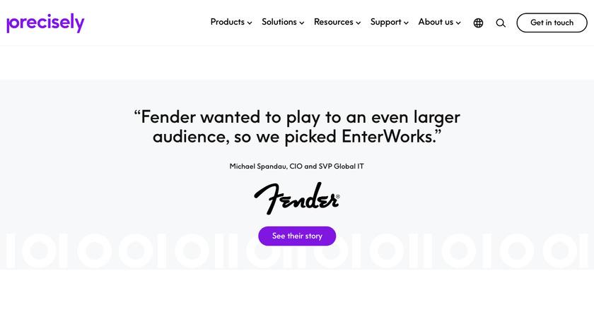 EnterWorks PIM solution Landing Page