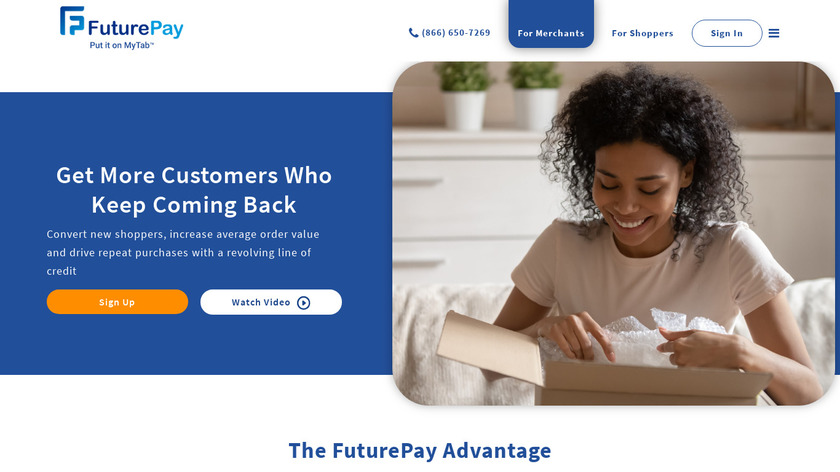 FuturePay Landing Page