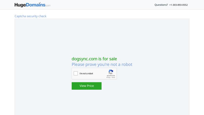 DogSync Landing Page