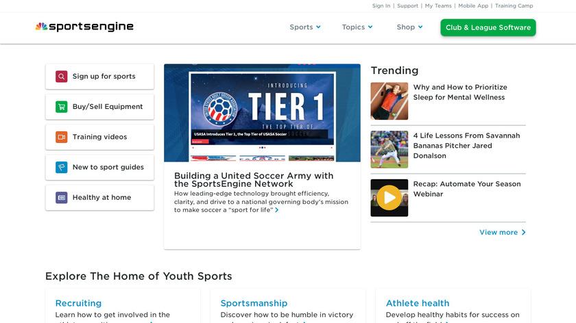 SportsEngine Landing Page