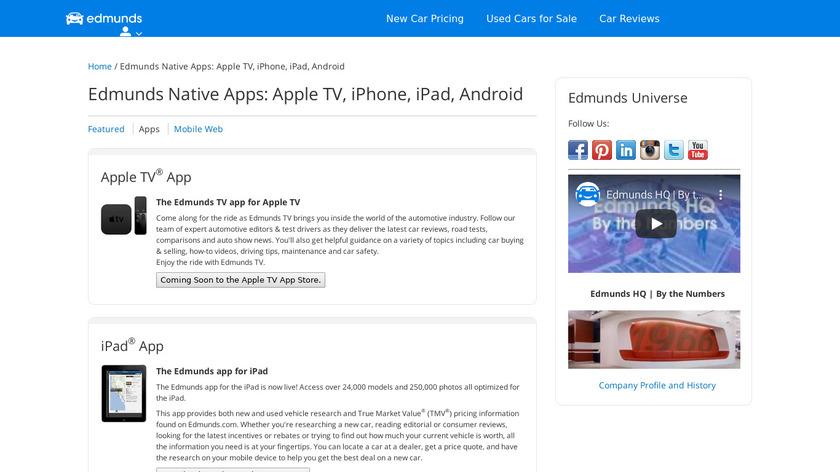 Edmunds.com Landing Page