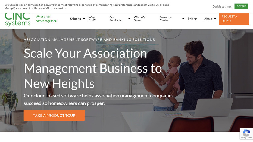 CINC Systems Landing Page