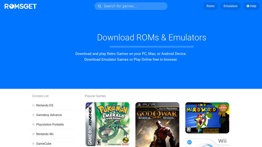 RomsGet Landing Page