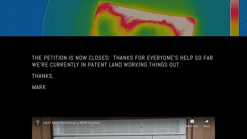 Heat Map Microwave Landing Page