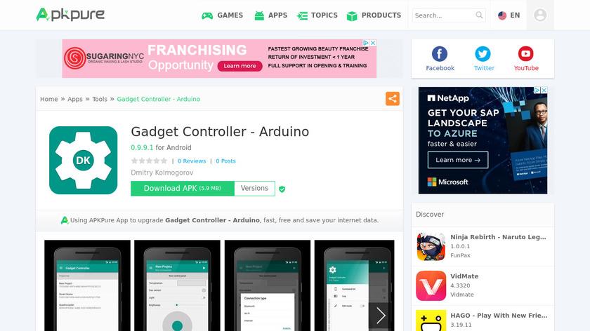 Gadget Controller – Arduino Landing Page