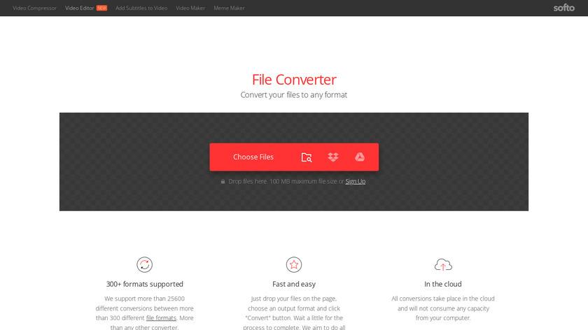 Convertio Landing Page