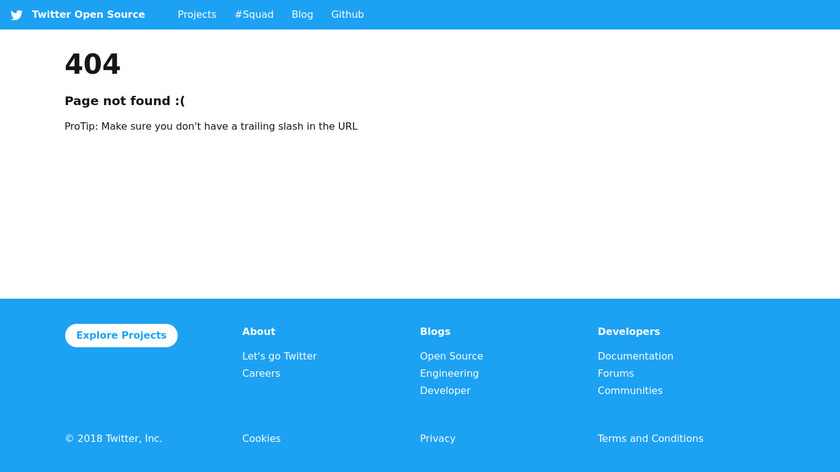 twitter.github.io Kestrel Landing Page