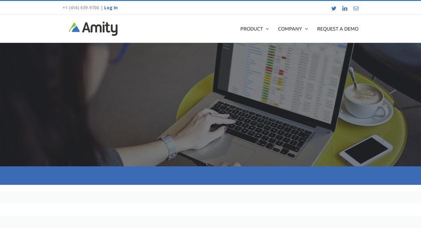 Amity Landing Page