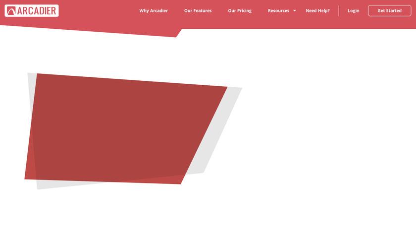 Arcadier Landing Page