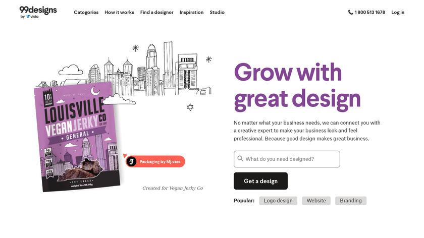 99designs Landing Page