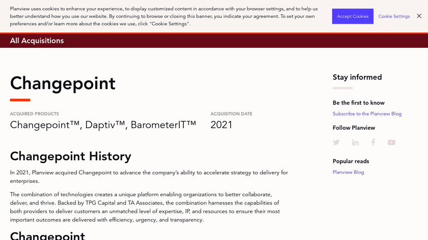 Changepoint Landing Page