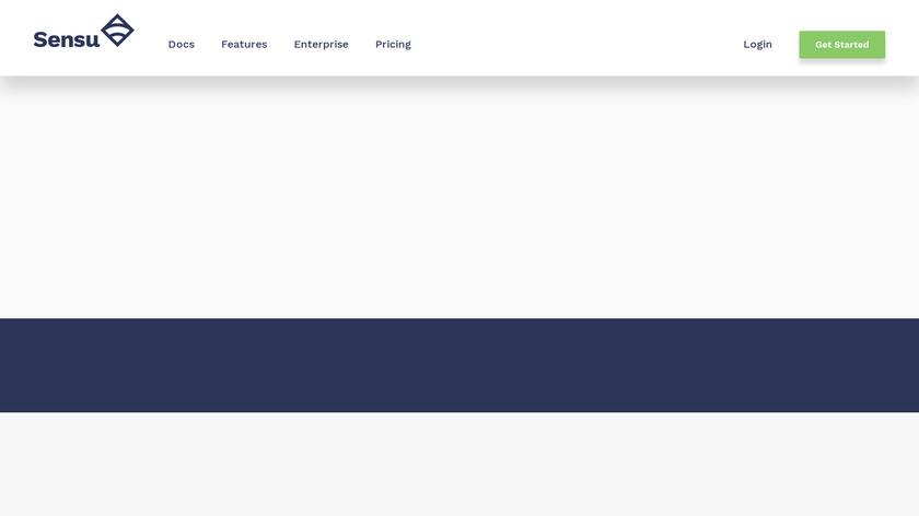 Sensu Landing Page