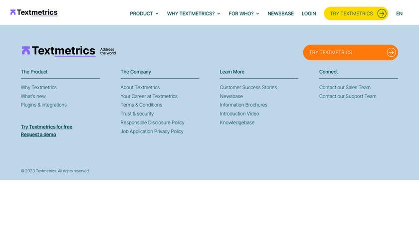 Webtexttool Landing Page