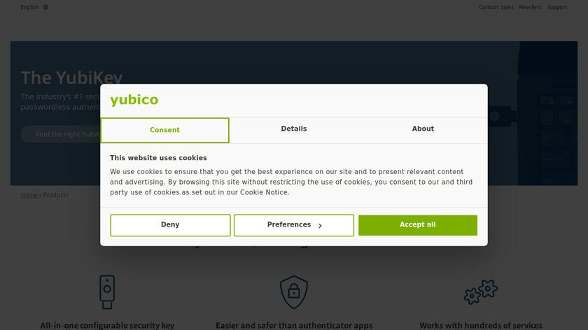 Yubico Landing Page
