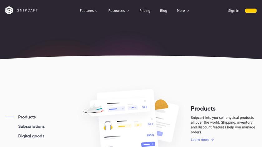 Snipcart Landing Page