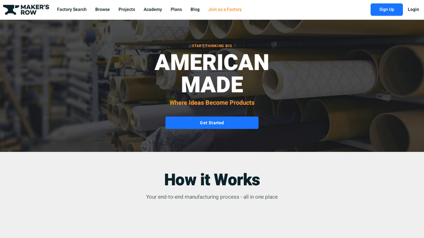 Maker's Row Landing Page