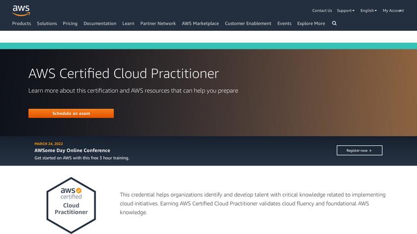 AWS – Cloud Practitioner Cert. Landing Page