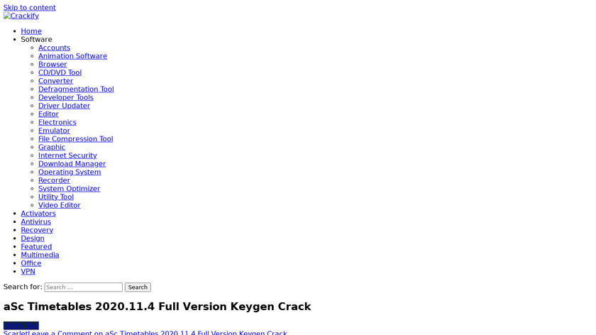 aSc Timetables Landing Page
