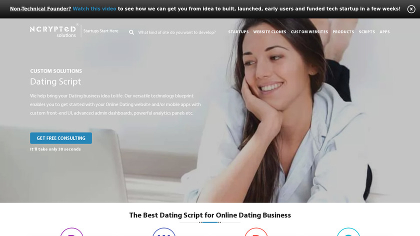 NCrypted Dating Script Landing Page