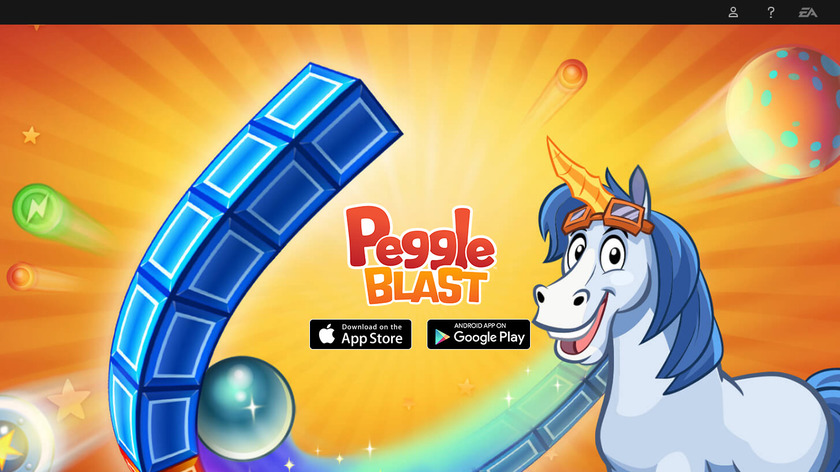 Peggle Blast Landing Page
