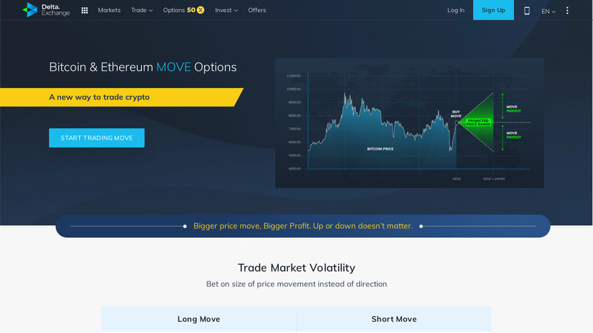 Bitcoin & Ethereum Move Options Landing Page