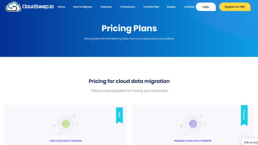 CloudSwap.io Pricing