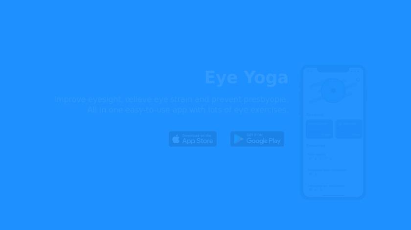 Eye Yoga Landing Page