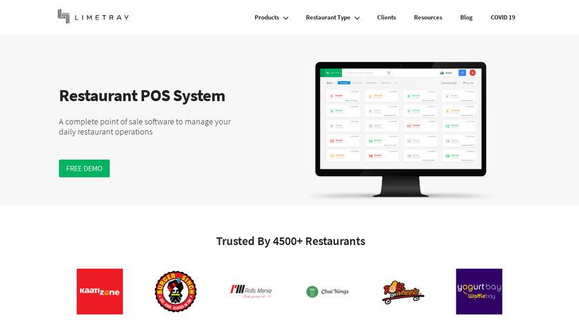 BC Resto Restaurant POS Landing Page
