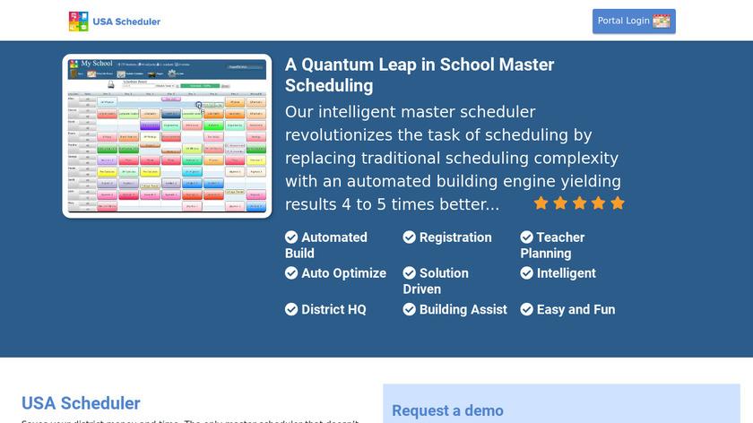 USA Scheduler Landing Page