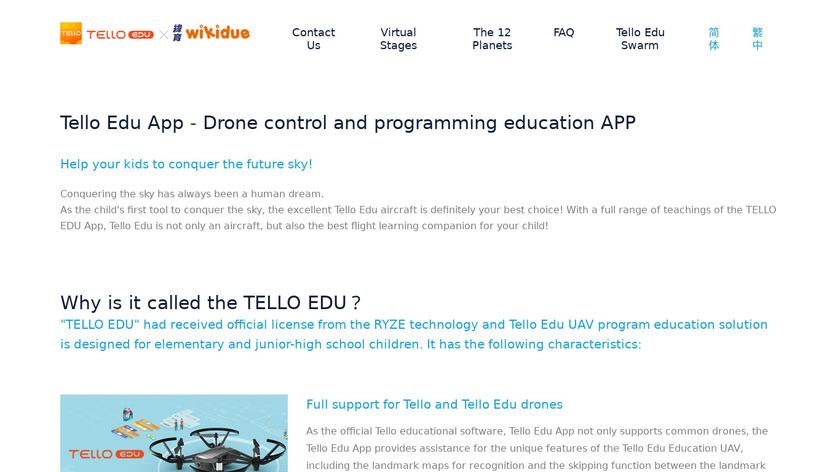 TELLO EDU Landing Page