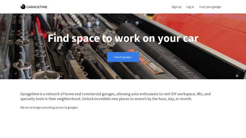 GarageTime Landing Page