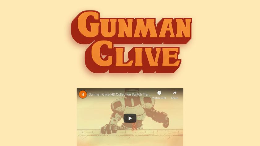 Gunman Clive Landing Page