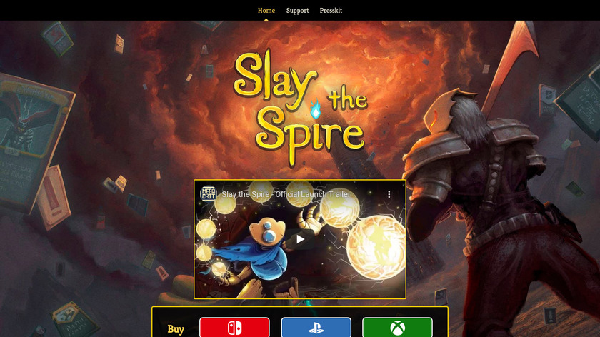 Slay the Spire Landing Page