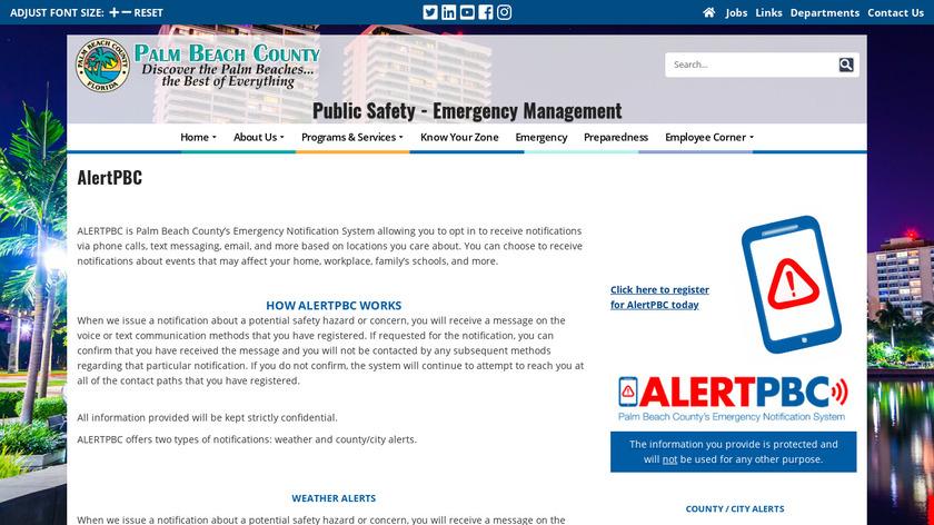 Alert Public Safety Landing Page
