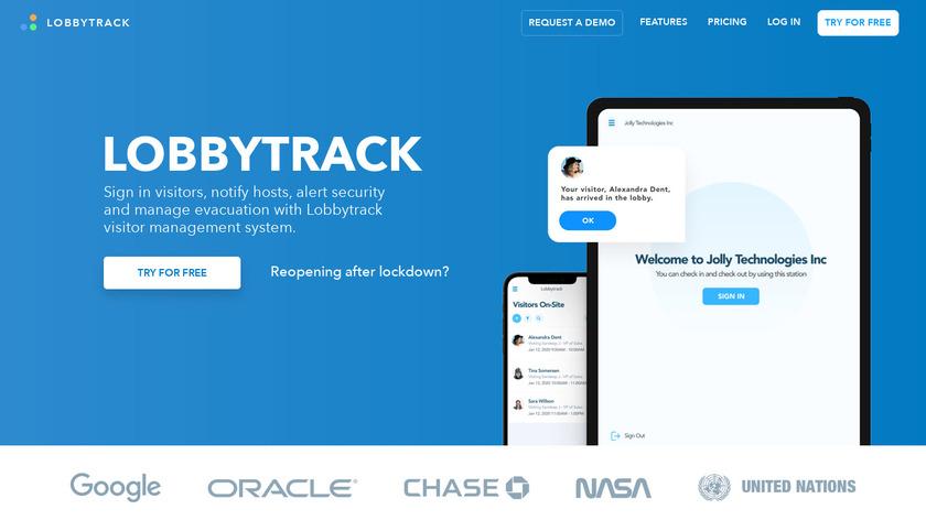 Lobbytrack Landing Page