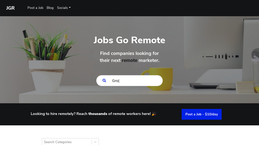 Jobs Go Remote Landing Page